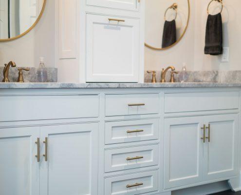 double bowl vanity cabinet