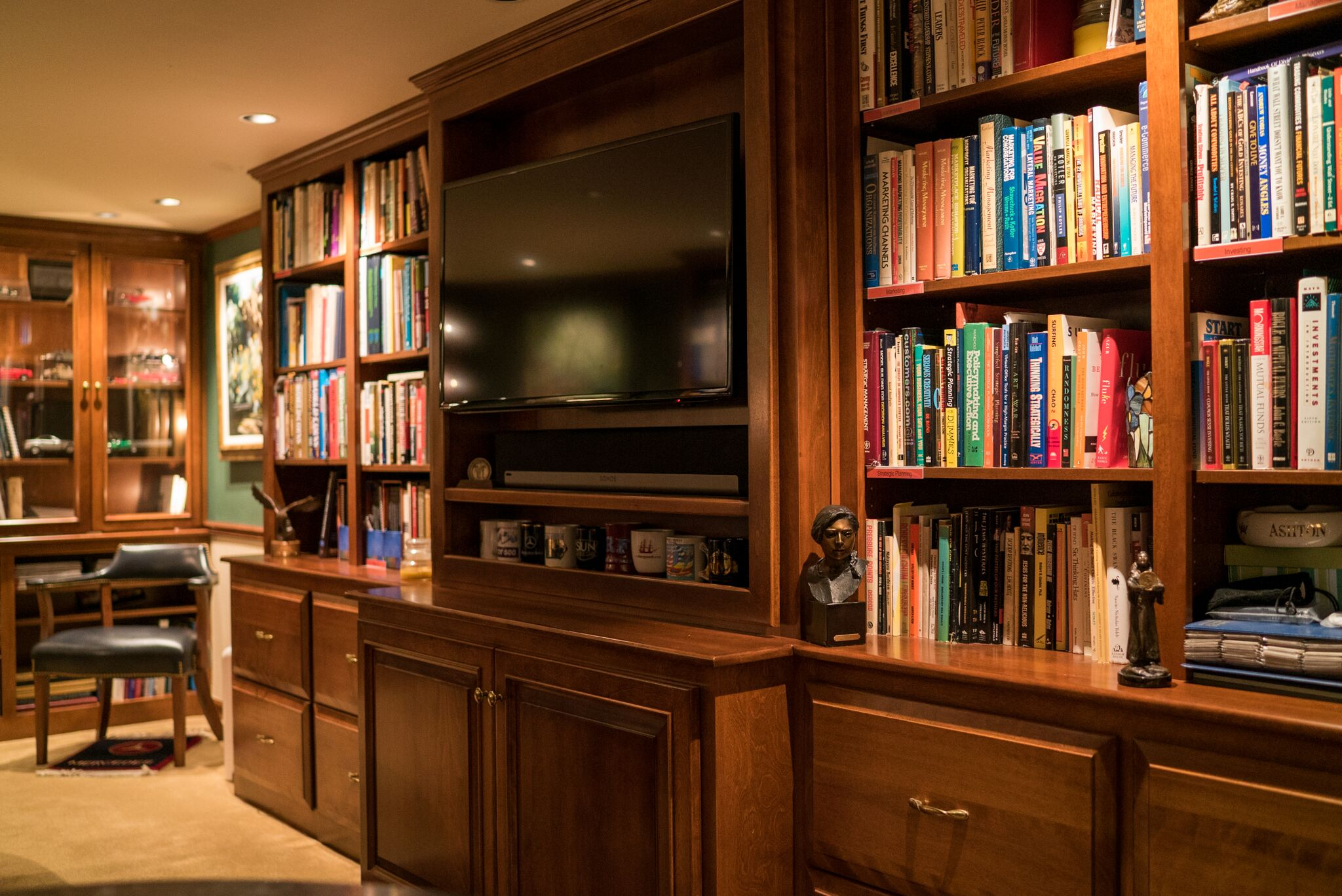 custom bookshelves for home office