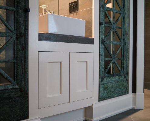 custom bathroom cabinet design