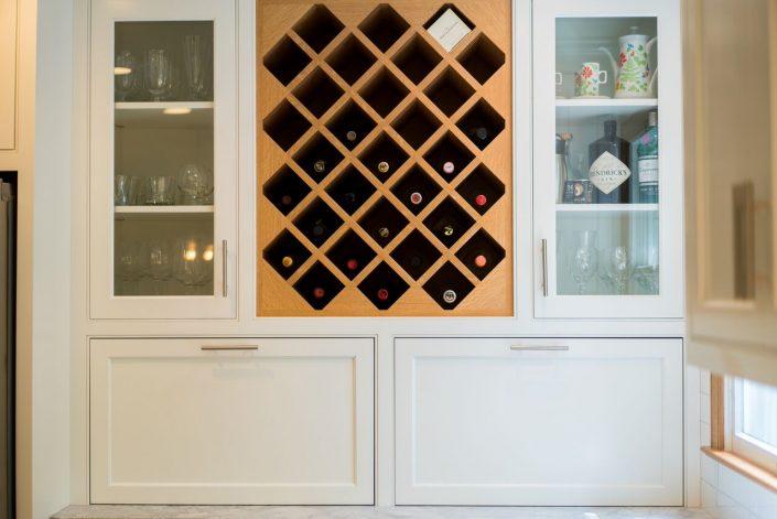 wine storage in custom kitchen