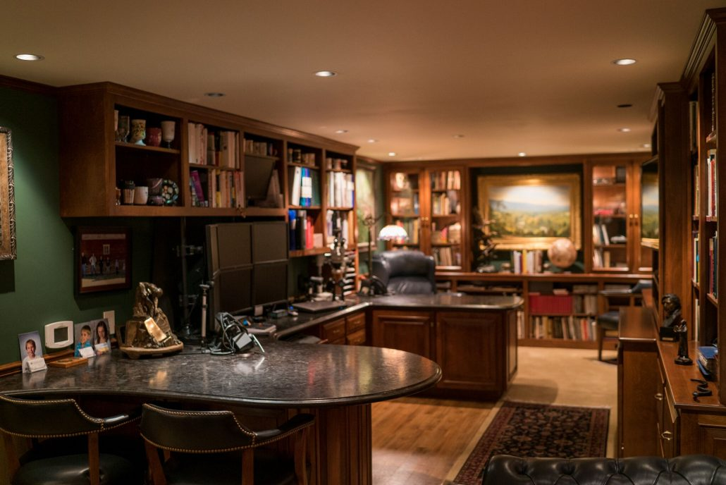 custom cabinetry makes a home office beautiful