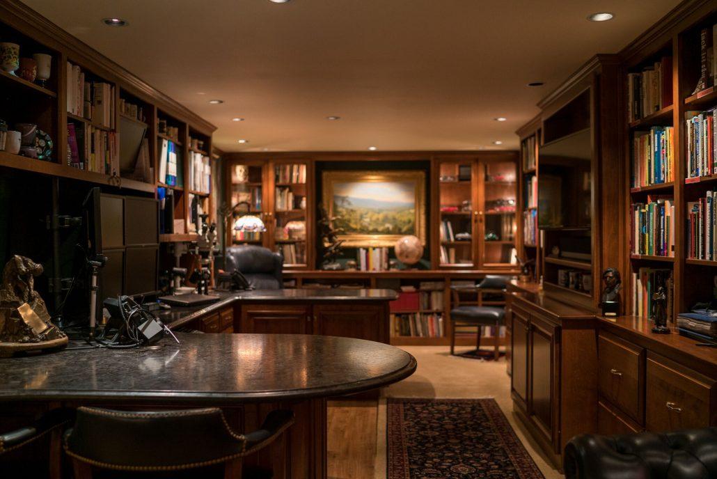 custom home office remodel