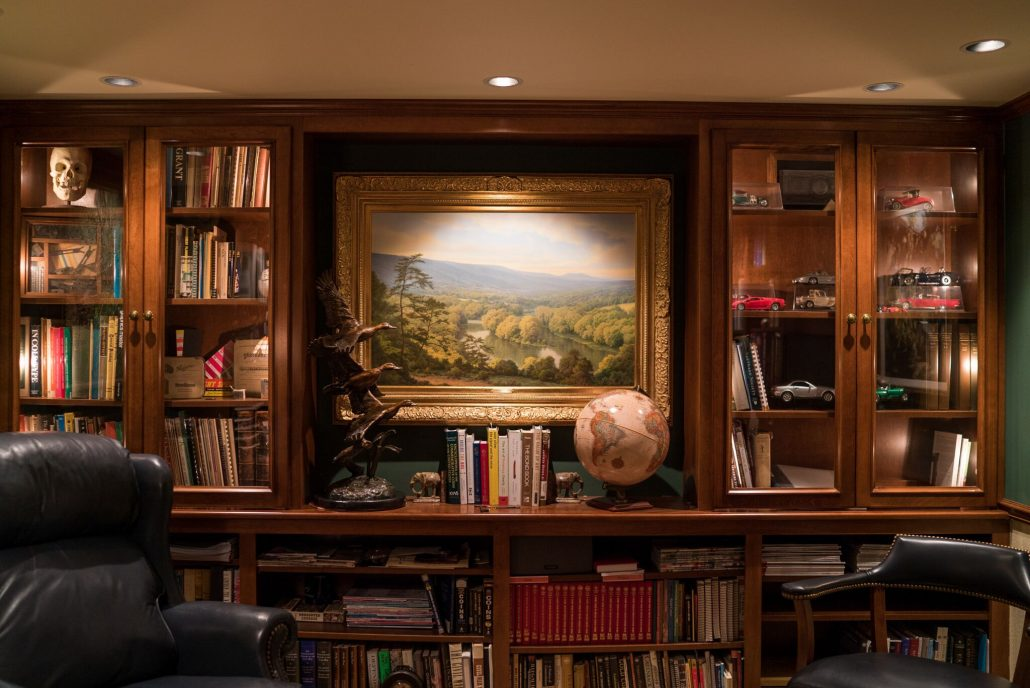 add art to your custom home office