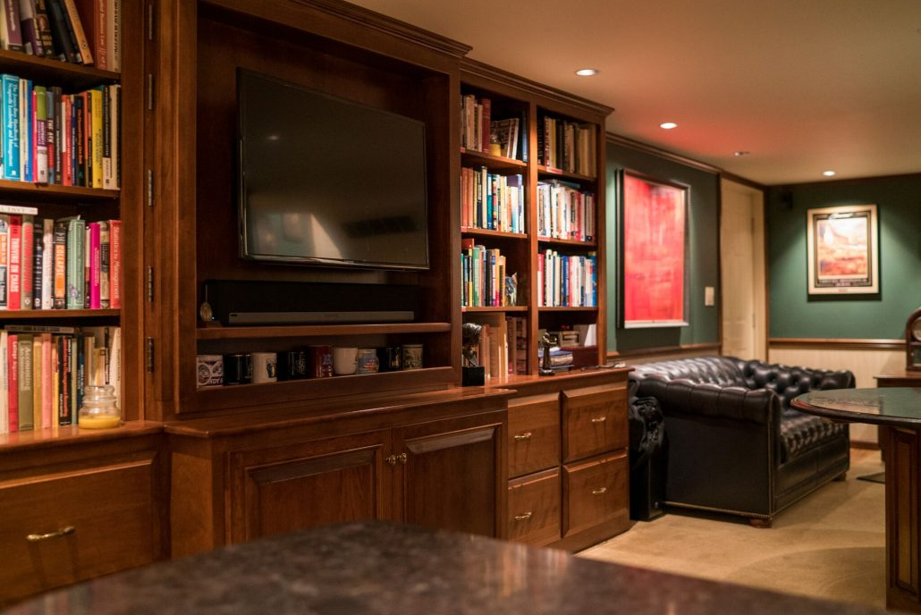 a cherry home office