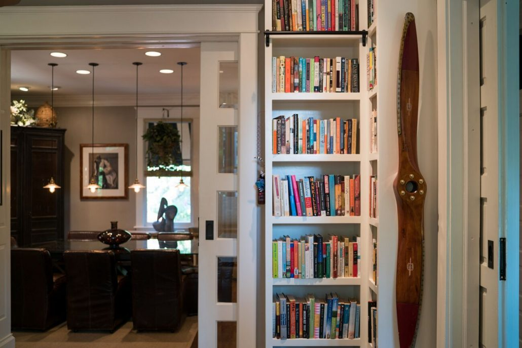 custom bookshelves in the home