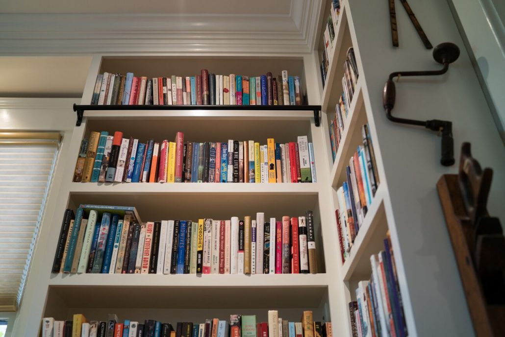 built-in custom bookshelves