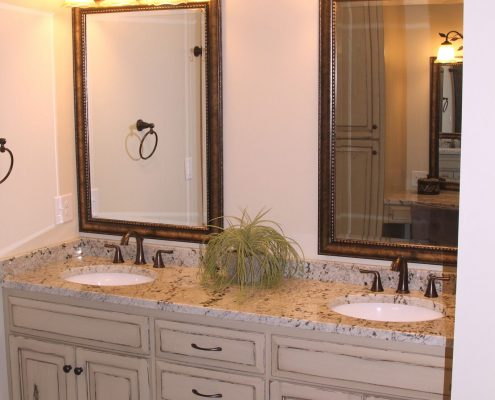 sophisticated custom bathroom cabinetry