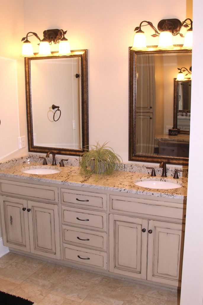 double bowl vanity cabinetry